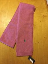 Polo Ralph Lauren Pink Wool Scarf D8 123 S