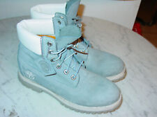 Womens Timberland 27379 Blue/White Waterproof Leather Boots! Size 8