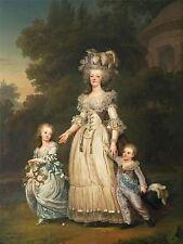 Imprimer la peinture portrait condamné la Reine Marie Antoinette enfants France nofl0081