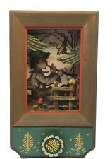 Vintage Reuge Music Box Shadow Box With Boy Hummel & Blue Bird Plays Edelweiss