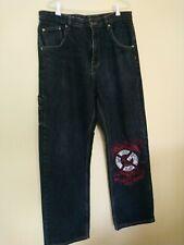 Vintage G UNIT 50 Built To Last Blue Denim Jeans Sz 34 Hip Hop Gangsta Rap