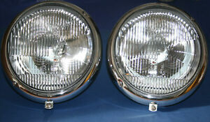 SET PORSCHE 356 VW BUG HEADLIGHTS ORIGINAL HELLA 64463110107 / 111941039A