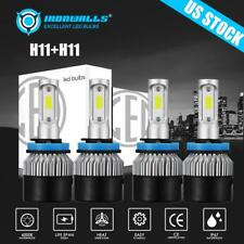 4X Combo H11 Cob Led Headlight Fog Light for 2018 Honda Civic Cr-V Odyssey Pilot