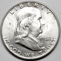 1948-D Franklin Half Dollar Brilliant Uncirculated- BU