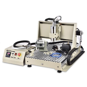 4 Axis CNC 6040 Router Engraver 1.5KW Water-cooled VFD Engraving Milling Machine