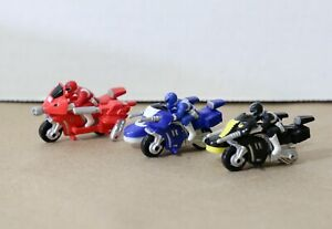 VINTAGE Mighty Morphin Power Rangers Motorcycle Lot (3) MICRO MACHINES 1994