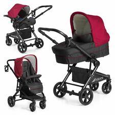Hauck Kombi Kinderwagen Buggy Set 3in1 Atlantic Plus mit Babyschale - Tango