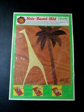 Giraffe Palm Tree Scene Steeb Wood Inlay Hobby Craft Art Kit 1974 Germany Sealed