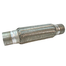 """2.5"""" x 14"""" Exhaust Flexi Pipe Lined Tube Joint Flexible Cat Repair 60 X 350mm"""