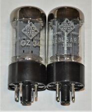 (2) TELEFUNKEN GZ34 5AR4  RECTIFIER VACUUM TUBES