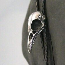 Silver Crow Skull Bolo Tie Bird Raven Bootlace