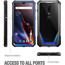 OnePlus 6T Case | Poetic Full-Body Hybrid Bumper Protective Cover Blue