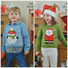 KNITTING PATTERN Childrens Christmas Jumper Snowman Santa DK King Cole 3805