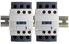 Contactor 40A 6 Pole 2x3 w DIN Rail, 120V Coil, 32A Motor, 50A Lighting 30a 110v
