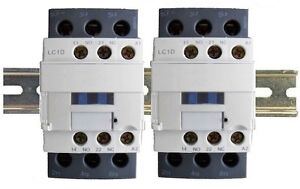Contactor 40A 6 Pole 2x3 w DIN Rail, 120V Coil, 32A Motor, 50A Lighting 30a 110v