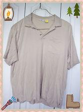 XL Van Heusen Beige with Pocket Short Sleeve Polo Dress Casual Shirt Pullover