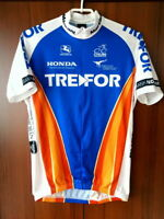 Giordana Trefor Team Honda Cycling Jersey Half zip size XL-5-52