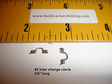 Interchange clevis,  Add a spinner blade to any line...anytime! Lots of 10