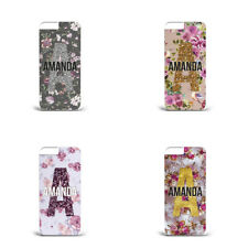 FLORAL PERSONALISED NAME FLOWER GLITTERY INITIALS PLASTIC Phone Case for IPHONE