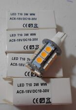 LED Bulbs  T10 3W Warm White (4 Bulbs)