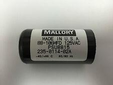 88-106uf MFD PSU8815 Mallory Motor Start Capacitor 125vac Suit 240vac Motors
