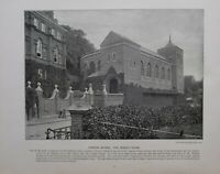 1896 LONDON PRINT + TEXT HARROW SCHOOL THE SPEECH HOUSE