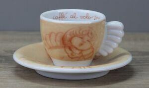 Thun Weihnachten coffee al volo 2002 hellorange Espressotasse mit Unterteller