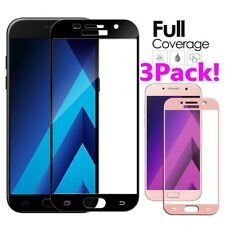 3x Full Cover Tempered Glass For Samsung Galaxy A3 A5 A7 J3 J5 J7 2017/2016 lot