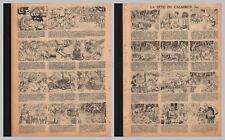 1935/36 (ref B/I 1647) RC BD la BÊTE du CALABREN  2pages 26x36 cm