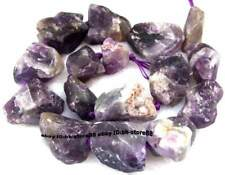 Natural Amethyst 15-25mm Nugget Baroque Gemstone Beads 15''