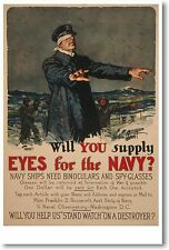 Will You Supply Eyes For the Navy? - Gordon Grant NEW Vintage Art Print POSTER