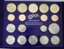 "2009 Mint Set. The Complete & Original 36 Coin Set with 18 each ""P"" and ""D"" mint"