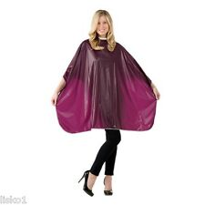 Betty Dain #311V LUSTRE Waterproof Shampoo Cape self grip closure (BURGUNDY)