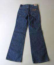 """Vtg Wrangler Jeans Flare Leg Bell Bottoms Blue Denim 26x30 Student 23"""" x  28.5"""""""