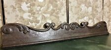 Architectural salvage scroll leaf pediment Antique french salvaged panel trim