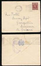 BRITISH GUIANA 1935 MARITIME SLOGAN MACHINE + SOUTHAMPTON PAQUEBOT GB KG5 1 1/2d