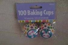 Amscan Bunny Mini Cupcakes Liners Baking Cups 100 ct Easter New