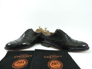 New Church's Cheaney Mens Shoes Brogue Caps Black UK 9 US 10 EU 43 G Oxfords
