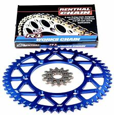 RENTHAL R1 Gold Motocross Chain BLUE Sprocket Combo Kit 53/13T YZ250F 01 - 2016