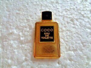 Coco Chanel issued Eau de Toilette perfume bottle shaped metal lapel pin