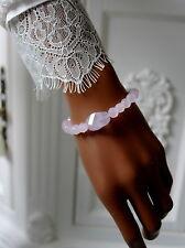 Handgefertigt Echte Edelstein-Armbänder mit Rosenquarz