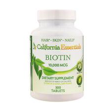 Biotin 10 000 mcg Maximum Strength High Potency 300 Tablets Hair Skin and Nails