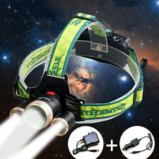 35000LM Cree XM-L 3x T6 Rechargeable LED Headlamp Headlight Zoom Head Light Lamp