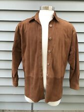 Vintage Womens Original Vera Pelle Brown Suede Leather Jacket Size 40