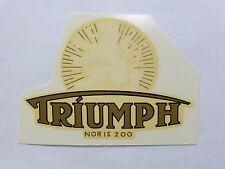 Triumph à gauche Inscription Décalcomanie à eau Décalque 10302T 126x88 mm blanc/