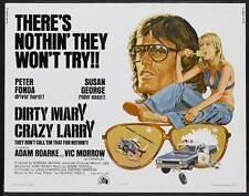 DIRTY MARY CRAZY LARRY Movie POSTER 27x40 C Peter Fonda Susan George Adam Roarke