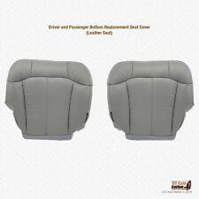 2001 2002 Chevy Silverado 1500 1500HD Driver-Passenger Bottom Leather Cover Gray