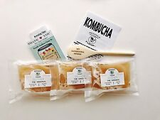 Kombucha SCOBY  X 3 cultures with 3 Cups strong starter tea. Get the original!