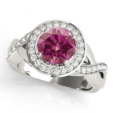 1 Cts Pink Diamond  Ring Color Enhanced HPHT 14k Valentineday Spl.Sale