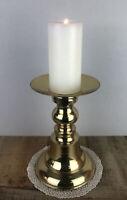 Vintage Brass Pillar Candle Holder 9.5 inch India
